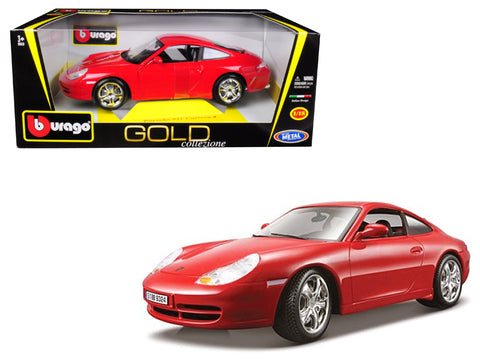 "Porsche 911 Carrera 4 Red ""Gold Collezione"" 1/18 Diecast Model Car by Bburago"