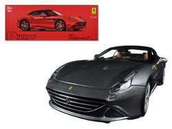 Ferrari California T Closed Top Metallic Grey Signature Series 1/18 Diecast Model Car by Bburago