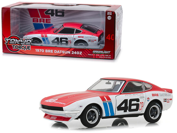 "1970 Datsun 240Z #46 John Morton BRE (Brock Racing Enterprises) ""Tokyo Torque"" Series 1/24 Diecast Model Car by Greenlight"