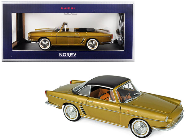 1959 Renault Floride Convertible Metallic Bahamas Yellow/Gold 1/18 Diecast Model Car by Norev
