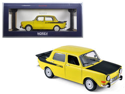 1976 Simca 1000 Rally 2 Maya Yellow 1/18 Diecast Model Car by Norev