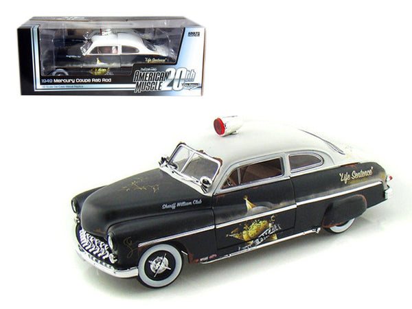 1949 Mercury Rat Rot Police Coupe -  20th Anniversary of American Muscle Edition 1 of 700 Produced Worldwide 1/18 Diecast Model Car by Autoworld