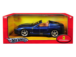 Ferrari Superamerica Blue 1/18 Diecast Model Car by Hotwheels