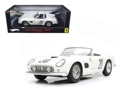 Ferrari 250 California SWB Lemans 1969 White #20 Elite Edition 1/18 Diecast Model Car by Hotwheels
