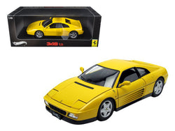 1989 Ferrari 348 TB Yellow Elite Edition 1/18 Diecast Model Car by Hotwheels