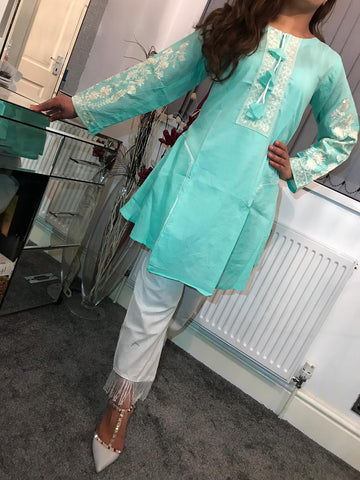 Kurta Cotton Sequins Design KC26