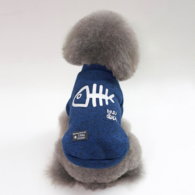 Thickening dog winter coat Foxy Beauty Blue / L