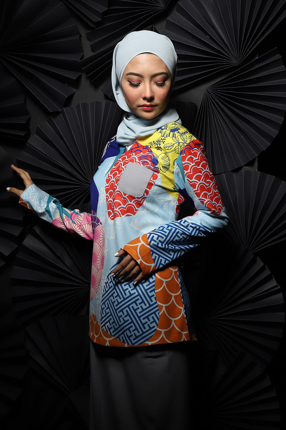 #AYJAPAN Vintage Kurung in Blue and Grey