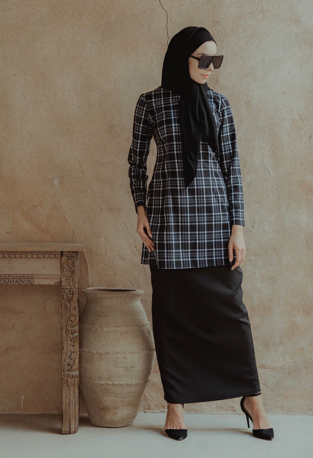 #AYLEBARAN2019 Kurung Modern Checkered Black