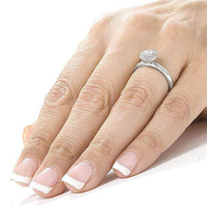 Round Brilliant Diamond Engagement Ring 1/2 Carat (ctw) in 14K White Gold