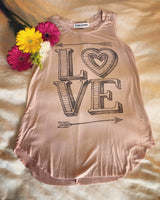 Pink Love Arrow Brokedown Clothing Draped Tank