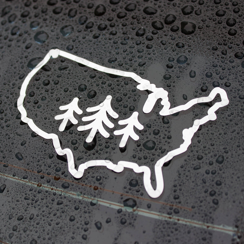USA TriPine Logo - Vinyl Transfer sticker