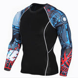 T Shirt Fitness Men  MMA Crossfit T-Shirts Tights T SHIRT FOf SPORT AND MMA