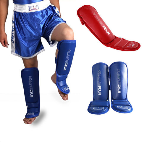 protector Sanda taekwondo boxing Leggings  protection for MMA Muay thai shin pads