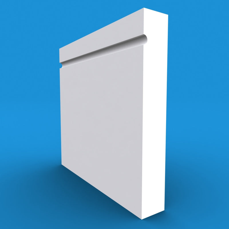 Square Edge C Grooved MDF Skirting Board