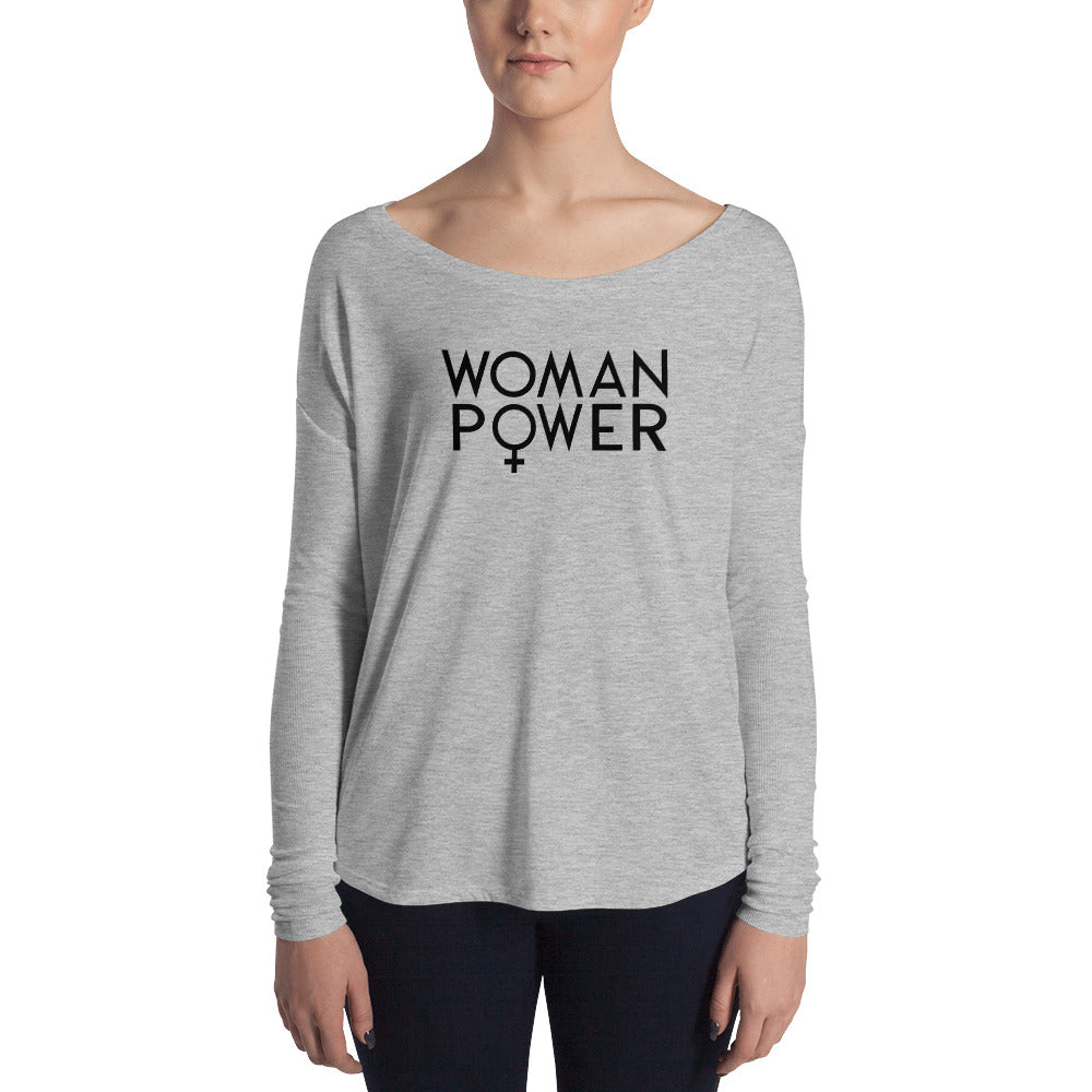 Cute Feminist T Shirt Woman Power Ladies' Long Sleeve Tee - Everyday Unicorns