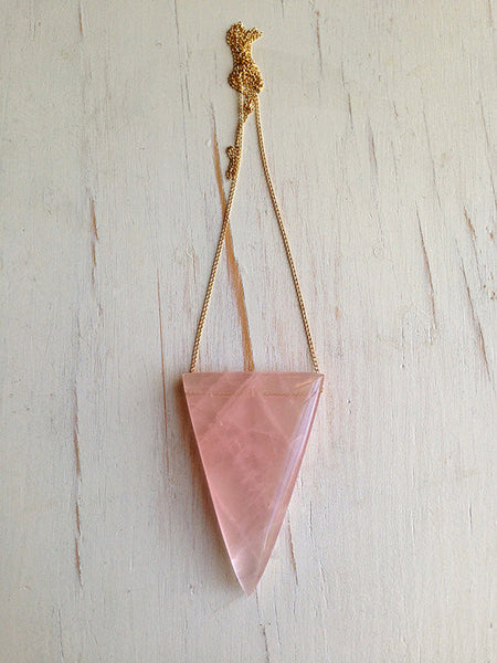 Rose Quartz Geometric Necklace