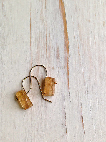 Topaz Raw Shard Earrings