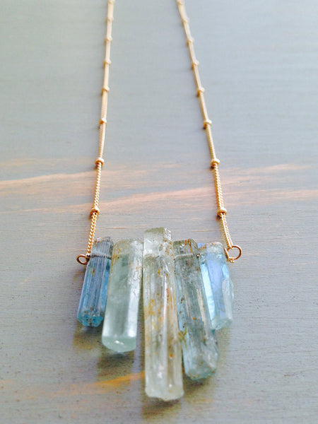 Aquamarine Raw Shard Necklace
