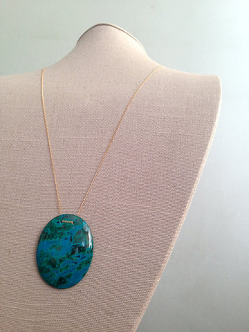 Chrysocolla Drop Necklace