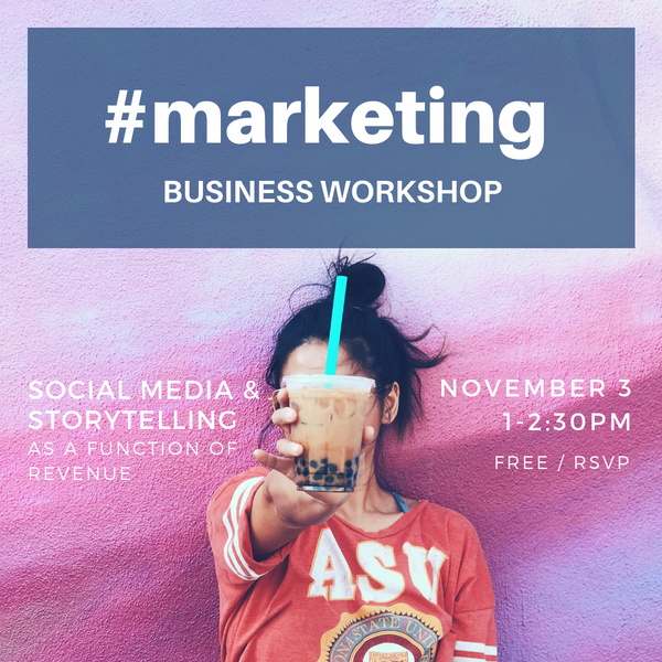 Business Workshop: #MARKETING Nov 3rd