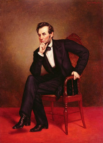 Abraham Lincoln Portrait Painting by George Peter Alexander Healy