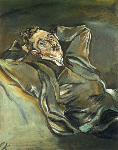 Albert Ehrenstein by Oskar Kokoschka