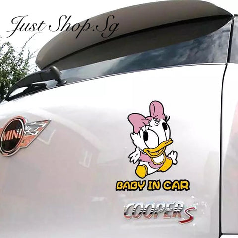 Baby Daisy Duck In Car Sticker / Decal - Just Shop.Sg