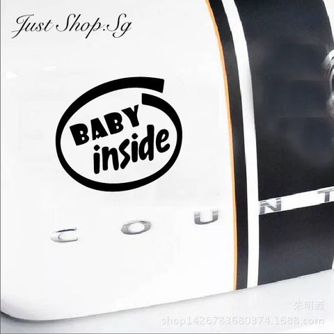 Baby Inside Car Decal / Sticker - Just Shop.Sg