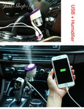 Car Humidifier Cum Double USB Charger - Just Shop.Sg