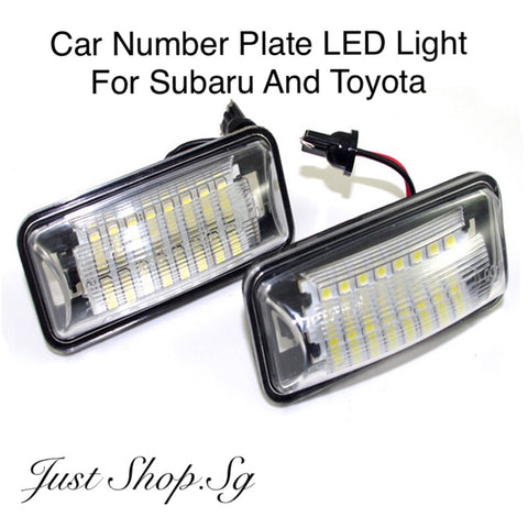 Car Number Plate LED Light (For Subaru And Toyota - Just Shop.Sg