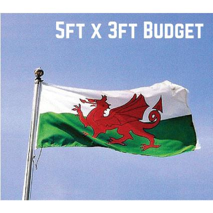 Budget Wales Flag 5ft x 3ft