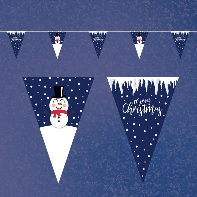 Merry Christmas Snowman Bunting
