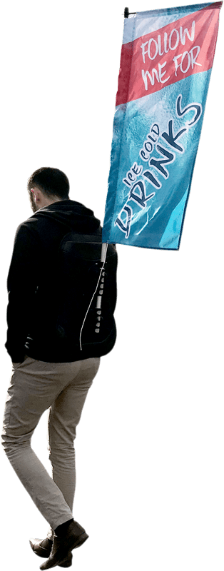Advertising backpack