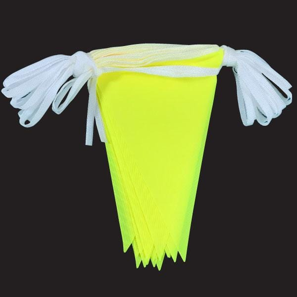 Yellow Hi-Vis Fabric Bunting 10m lengths