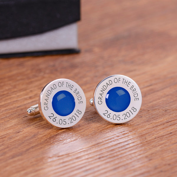 Wedding Party Silverplated Cufflinks - Royal Blue | Gifts24-7.co.uk