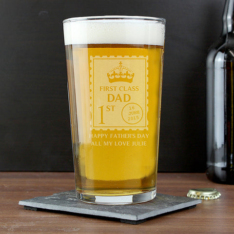 Buy Personalised 1st Class Pint Glass