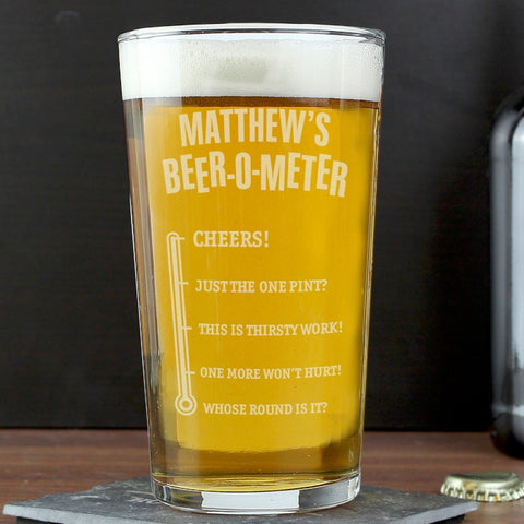 Buy Personalised Beer-o-Meter Pint Glass