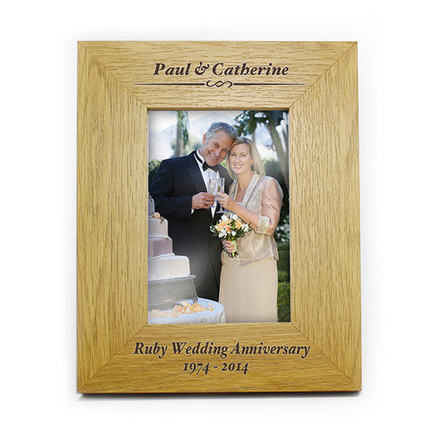 Buy Personalised Oak Finish 4x6 Formal Portrait Photo Frame