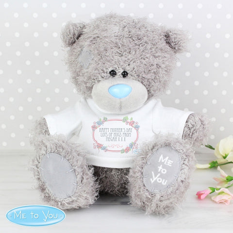 Buy Personalised Me To You Bear with Floral T-Shirt