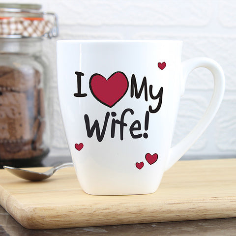 Buy Personalised I Heart Latte Mug