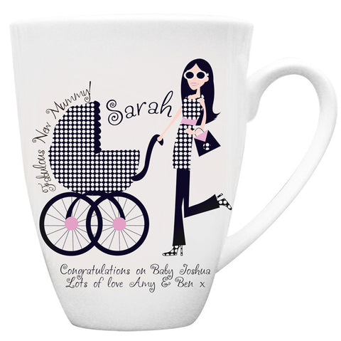 Buy Personalised Fabulous New Mummy Latte Mug