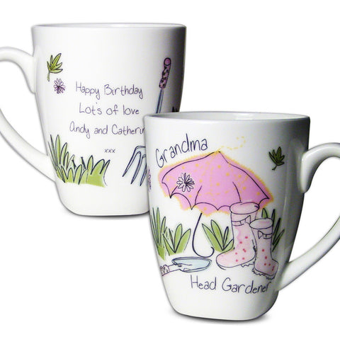 Buy Personalised Pink Umbrella Latte Mug