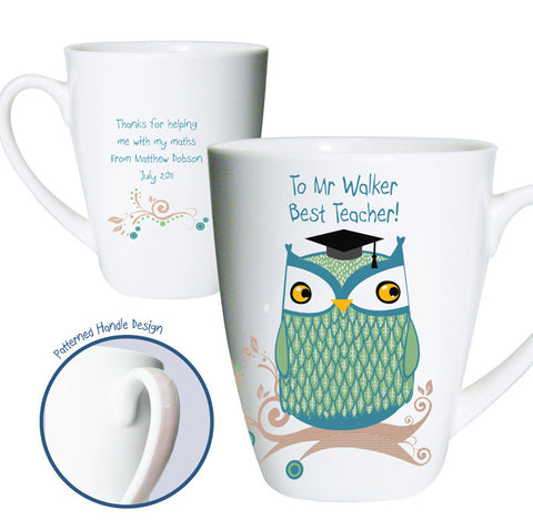 Buy Personalised Mr Owl Teacher Latte Mug
