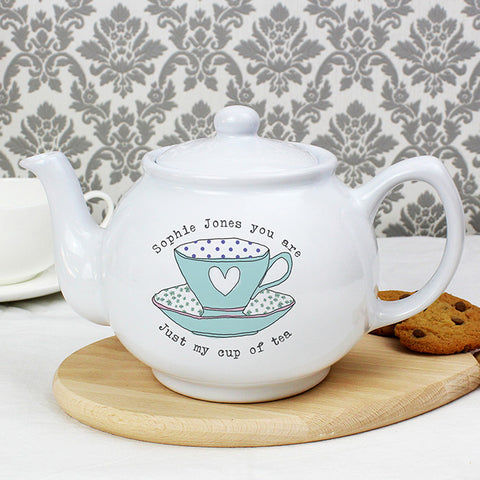 Buy Personalised Vintage Tea Cup Teapot