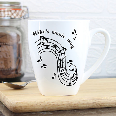 Buy Personalised Musical Notes Latte Mug