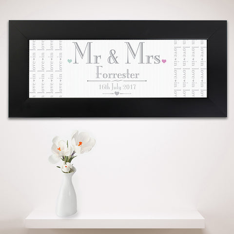 Buy Personalised Decorative Wedding Mr & Mrs Black Name Frame