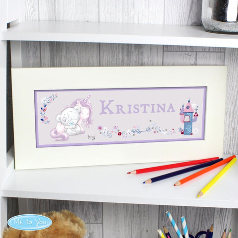 Buy Personalised Tiny Tatty Teddy Unicorn Name Frame