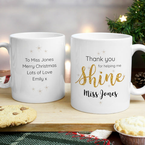 Buy Personalised Shine Teacher Mug