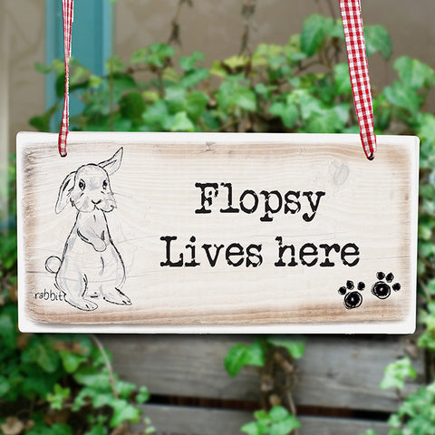 Buy Personalised Rabbit Wooden Sign